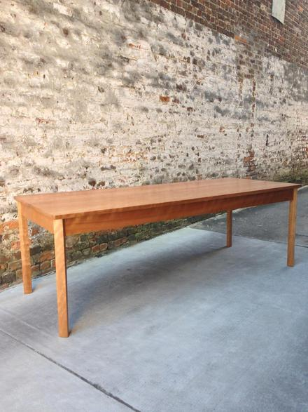 "Cherry Dining Table, Seats 8 comfortably, 8' long, 30"" wide"