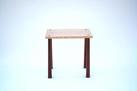 Cardinal Table, Black Walnut and Bird's Eye Maple