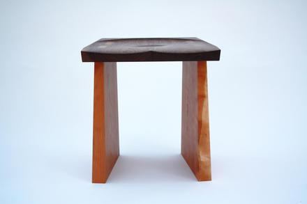 Cardinal Stool, Black Walnut and Cherry
